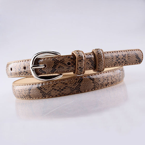 Leather Snake waist belt women