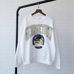 GEORGETOWN New Casual  Hoodies Sweatshirt Women Police dog Pattern Coat Sweatshirt