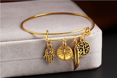 Alex and Ani Style Anchor LOVE Tree Pendant Bracelet Cuff Bangles Jewelry