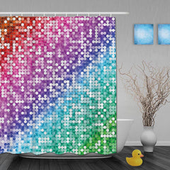 Rainbow Decor Bathroom Shower Curtain