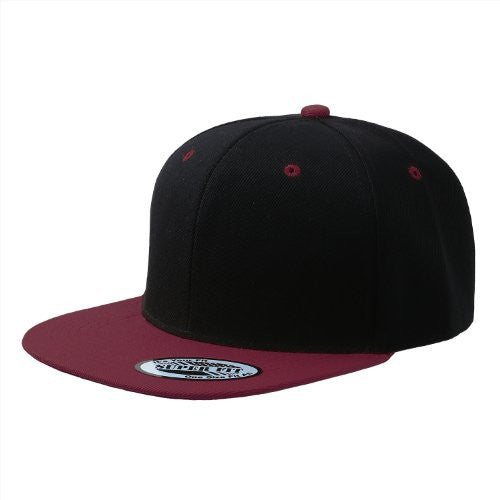 Blank Adjustable Flat Bill Plain Snapback Hats Caps (All Colors)