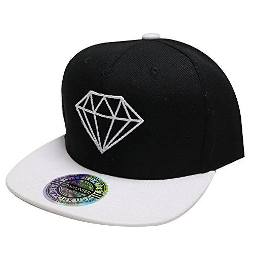 City Hunter Cf918t Diamond Snapback Cap - 5 Colors