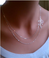 Gold Silver Chain Cruz Necklaces For Women