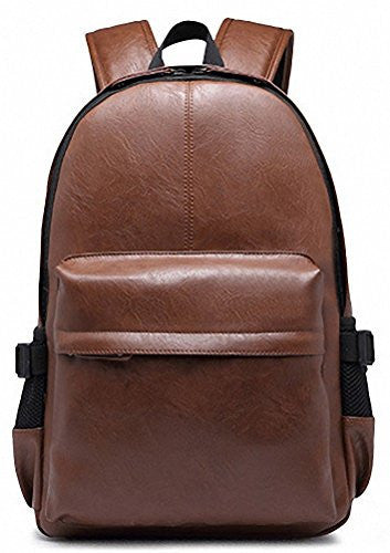 Kenox Vintage PU Leather Backpack School College Bookbag Laptop Computer Backpack