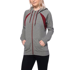 Warm Female Hoodies Zipper Pocket  Hoodie Full Sleeve