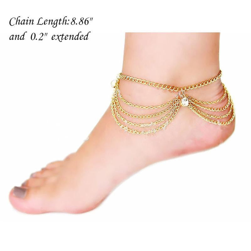 Anklet Bridal Accessories Women Sexy Rhinestone Barefoot Sandals –  FashionCOUTURE Store 1246f4e29ac8