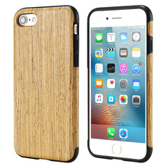 Vintage Genuine Wood Pattern Leather PU + TPU Slim Back Wooden Cover Phone