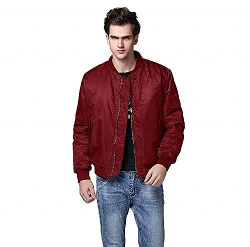 Neo-wows Men's Bomber Flight Jacket Thick