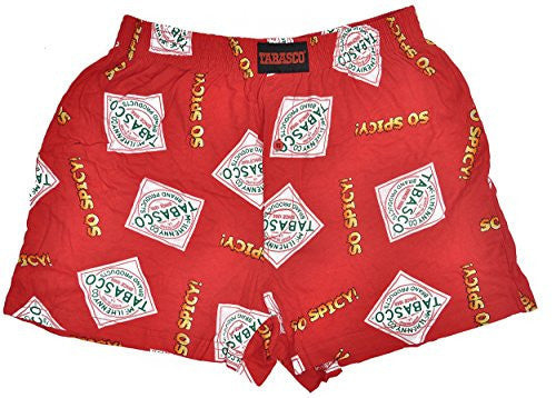 Tabasco Brand Men's Sleep Boxer Shorts + Plastic Piggy Bank Gift Set