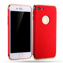 3 in 1 Frosted Design Electroplating Phone Covers for iPhone7 Phone Back cover Accessories