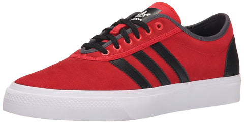 adidas Originals Men's Adi-Ease Lace Up Shoe, Collegiate Red/Black/Dark Grey Heather Solid Grey
