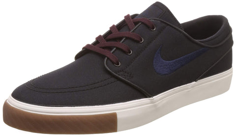 Nike Zoom Stefan Janoski CNVS Mens Fashion-Sneakers 615957-024 Black/Obsidian-Burgundy Crush