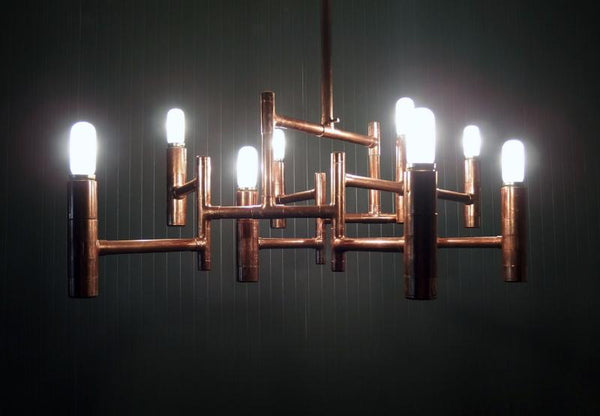Hexa - handmade copper chandelier Switchrange