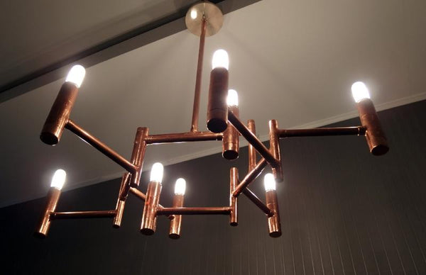 Hexa - copper pipe pendant lamp by Switchrange