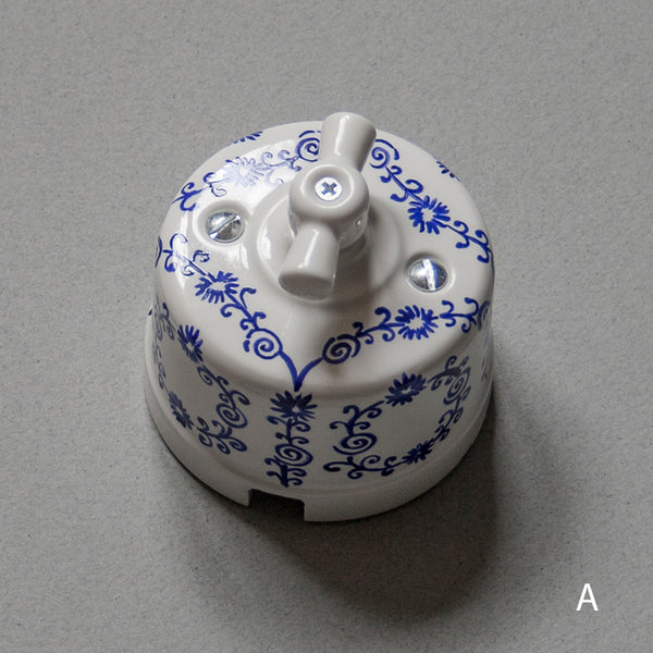 painted decorative ceramic light switch