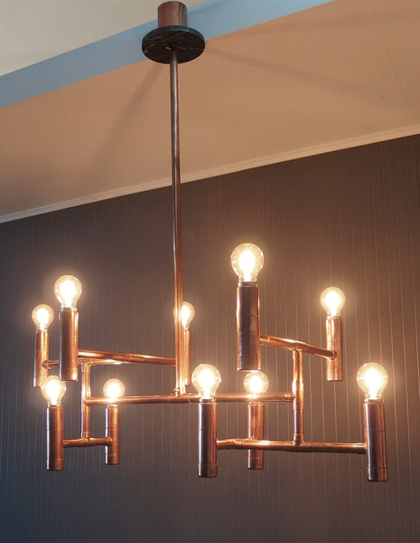 Primus - handmade copper pipe light fixture Switchrange