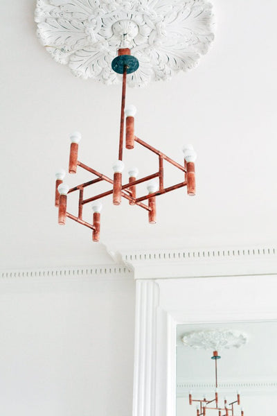 Primus - handmade copper chandelier Switchrange
