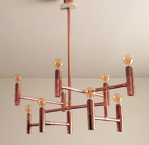 Primus - copper pipe pendant light fixture by Switchrange