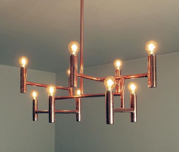 Primus - handmade copper pipe pendant lamp by Switchrange