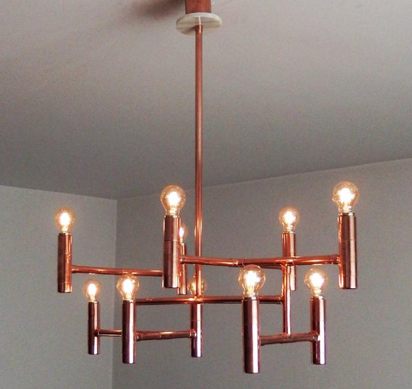 Primus - copper pipe pendant lamp by Switchrange