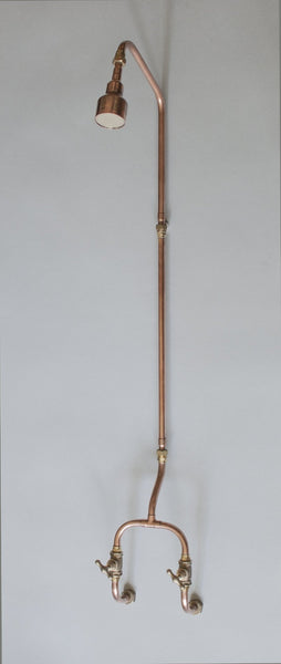 industrial copper pipe shower by Switchrange