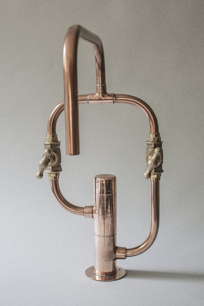 Pedestal Even by Switchrange - handmade industrial copper faucet