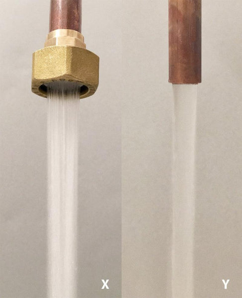 Water jet option for copper pipe faucet by Switchrange