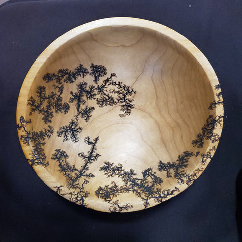 "8.5"" Farmhouse maple bowl with ball feet"
