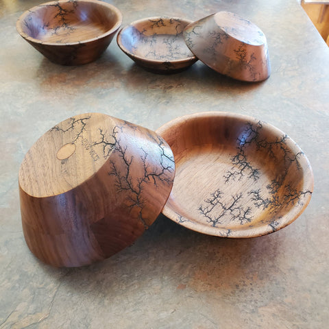 "6.5"" black walnut bowl"