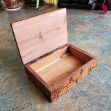 "5.5"" red cedar trinket box"