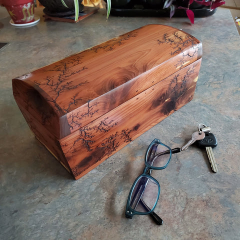 "Large 11.5"" red cedar trinket box"