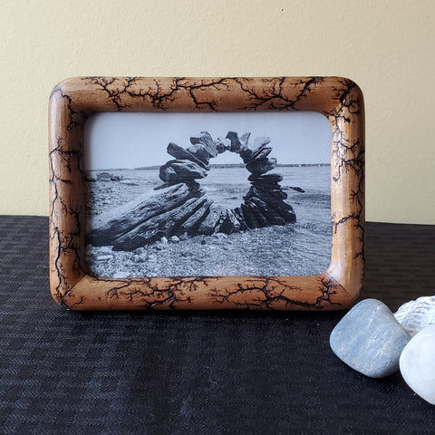 "3.5""x5"" wood photo frame"