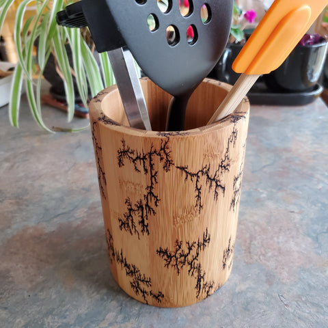 "7"" round utensil holder or vase"
