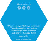 Back of bookmark with A.A. Milne quote