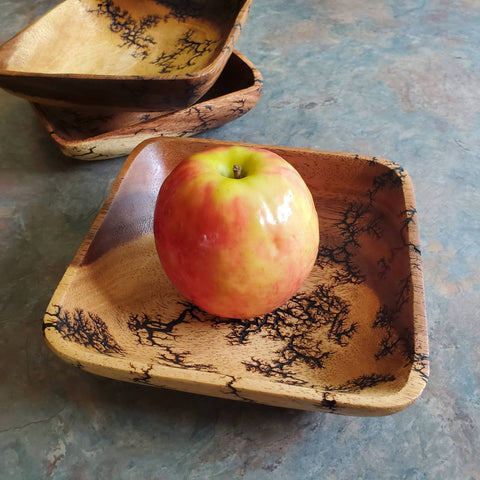 "6"" short square bowl"