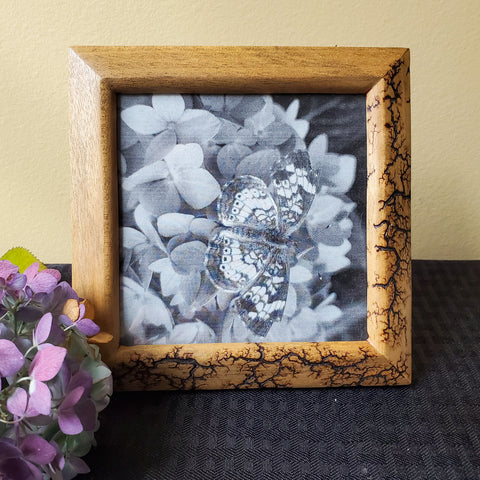 "6""x6"" wood photo frame"