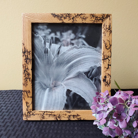 "7.75""x6.25"" wood photo frame"