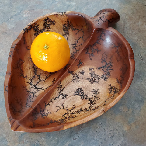 "12"" two-tone leaf bowl"