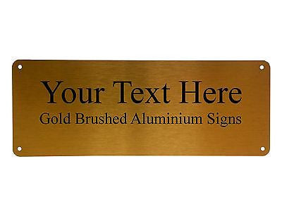 Lovely ... Your Text Metal Aluminium Sign Door Plaque House Office Name  Personalise 4 Holes ...