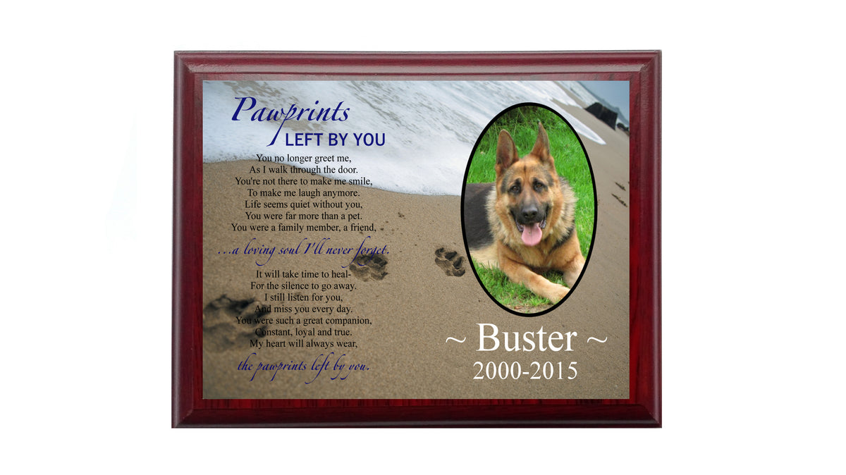 PETS DOG MEMORIAL PLAQUE PHOTO 3 Wood Board - Metal Aluminium Sign Custom  Personalised