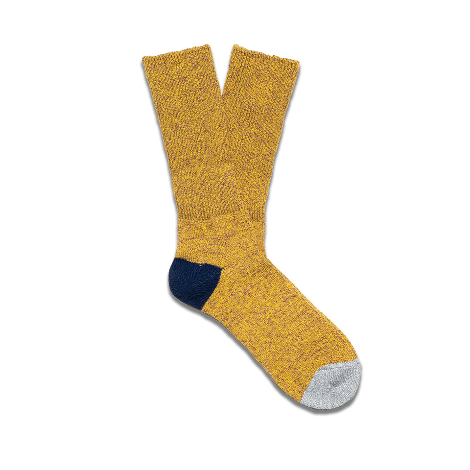 MOC 2POINTS CREW SOCKS - MUSTARD