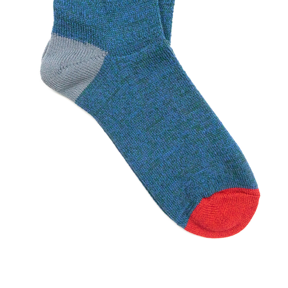 MOC 2POINTS CREW SOCKS - INDIGO
