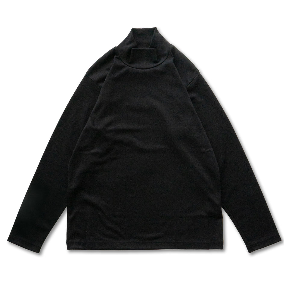TURTLE NECK L/S TEE - BLACK