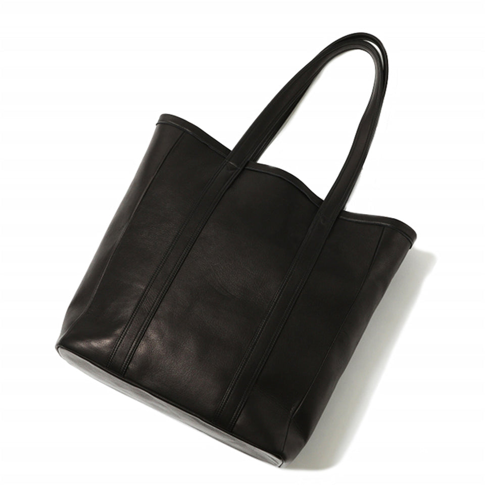 STEERHIDE TOTE BAG - BLACK