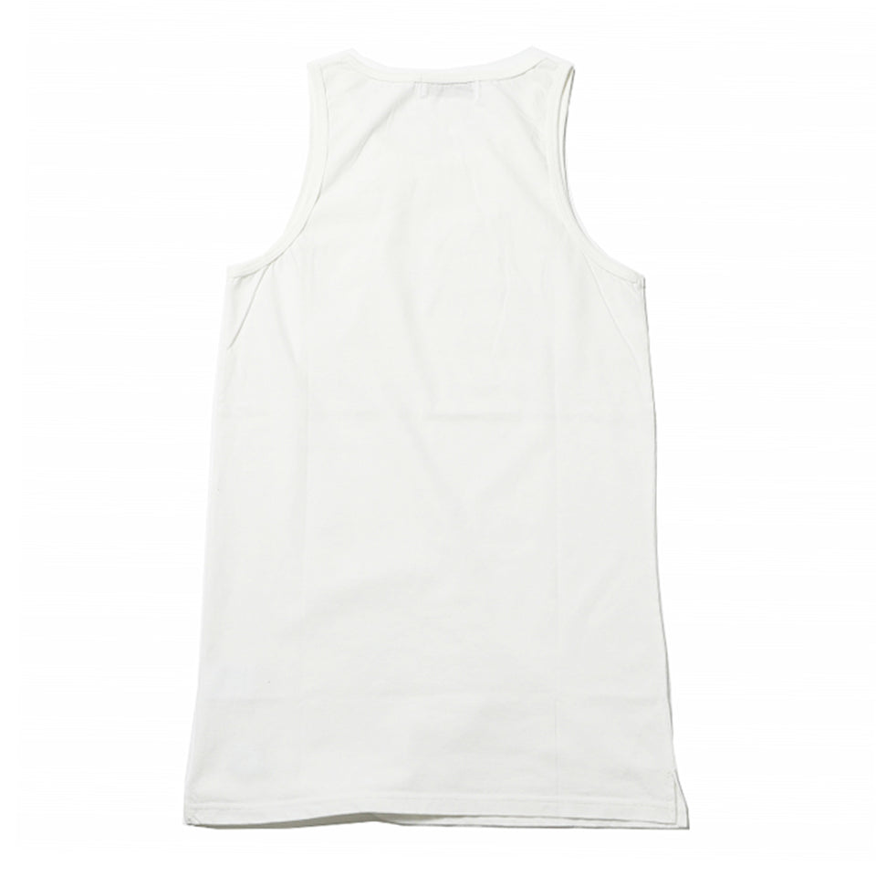 COTTON LONG TANK TOP - WHITE