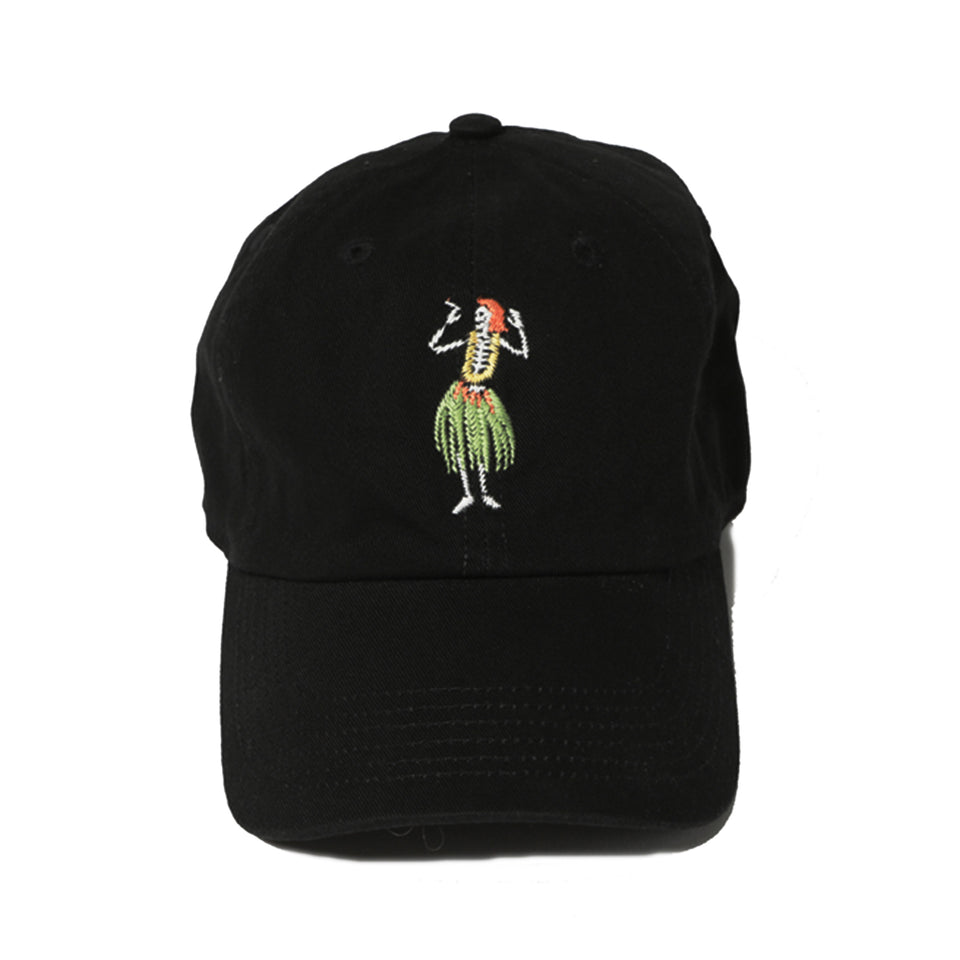 HULA SKULL CAP - BLACK/GREEN