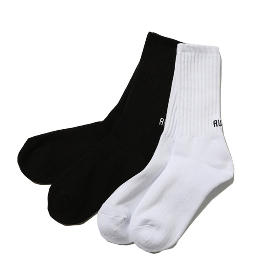 RUDE SOCKS (2 PACK) - WHITE/BLACK