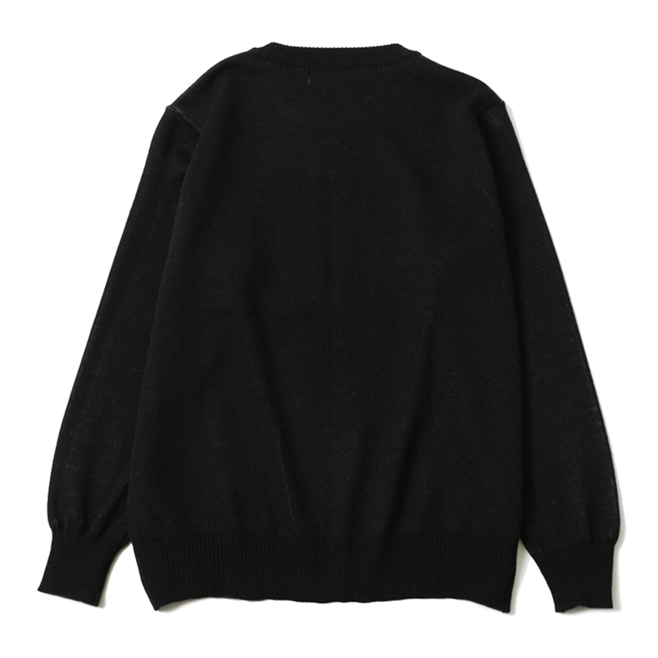 WOOL DESTROY TRADITION SKULL SWEATER - BLACK