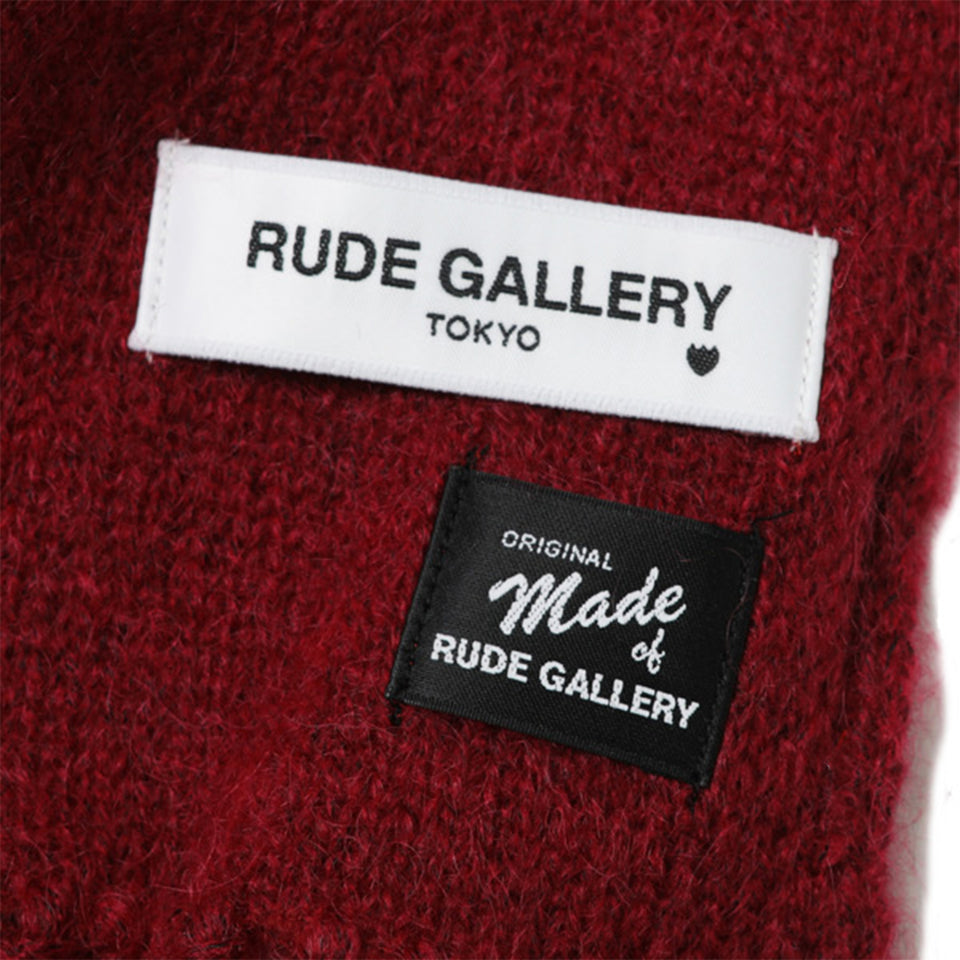 MOHAIR LONG SCARF - RED
