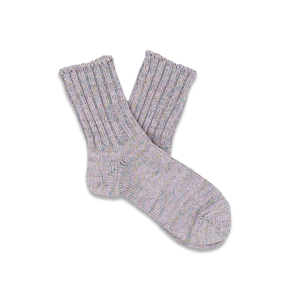 Glitter Rib Crew Socks - Purple (Women's)